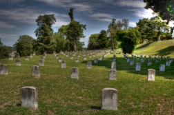 Tombstones that continue as far as the eye can see.