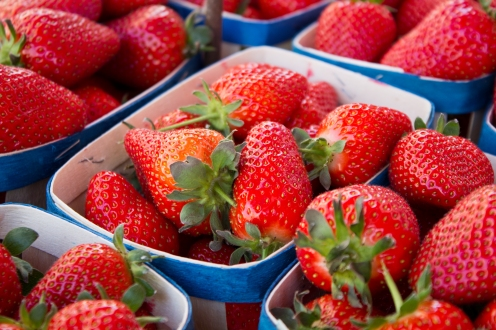 Strawberries at the Market