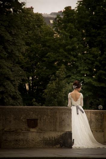 Bride pre-walk photo.
