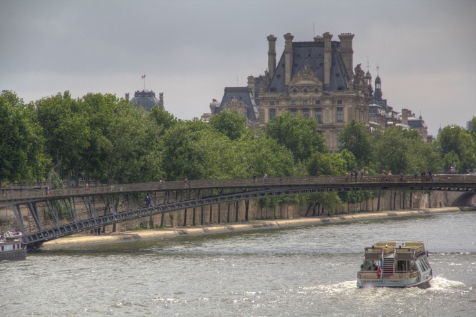 Louvre Over the Seine