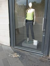 Either someone didn't like this outfit or they just needed to toss their cookies.
