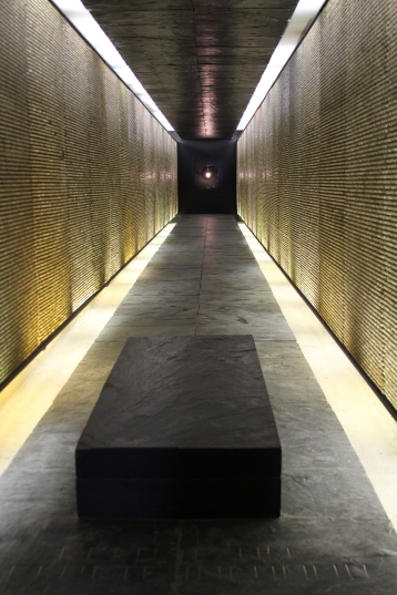 200,000 little lightbulbs represent the people deported from France during World War II.ing the