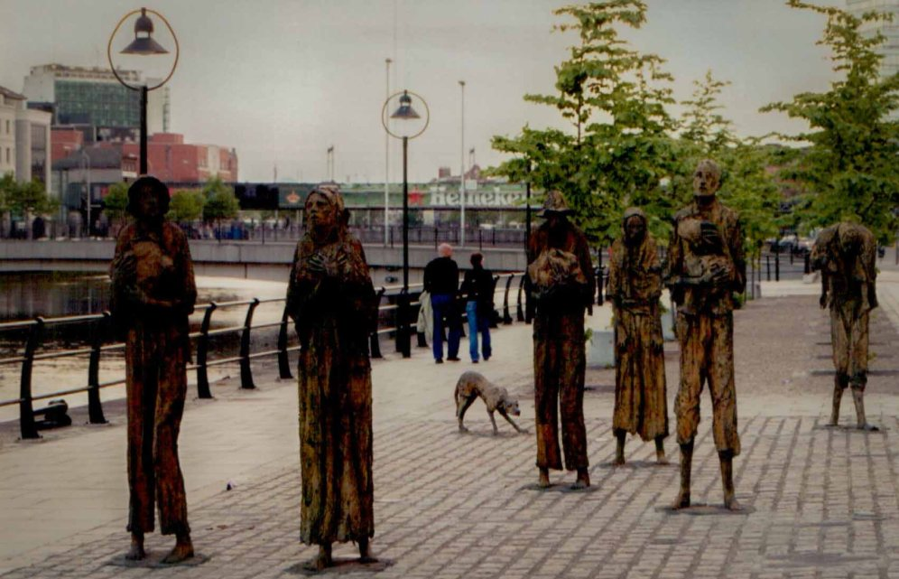 These sculptures are so powerful. I knew nothing about the potato famine before my visit. Travel brings history alive.
