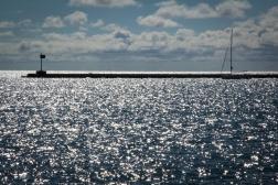 Not quite an ocean, but still beautiful.